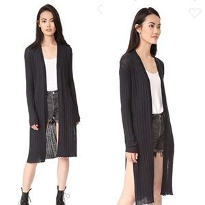 Free People Ribbed Duster Cardigan Large